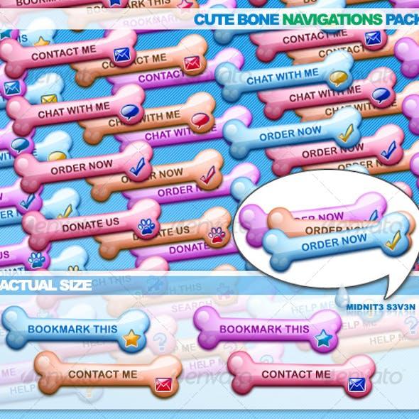Cute Bone Navigations Pack