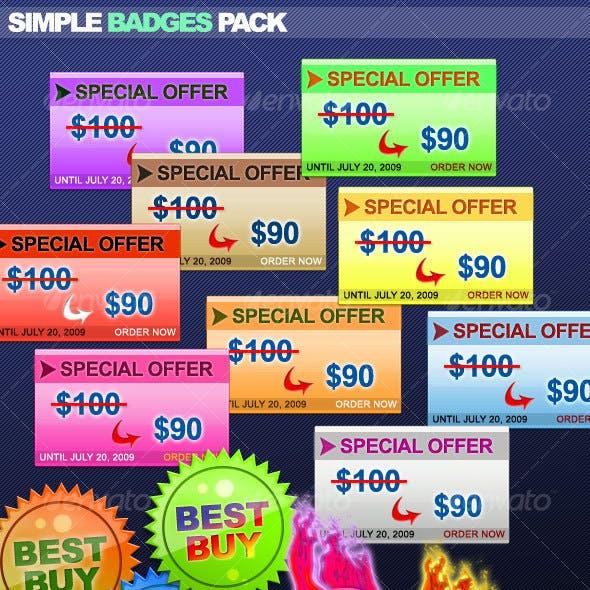 Simple Badges Pack #1