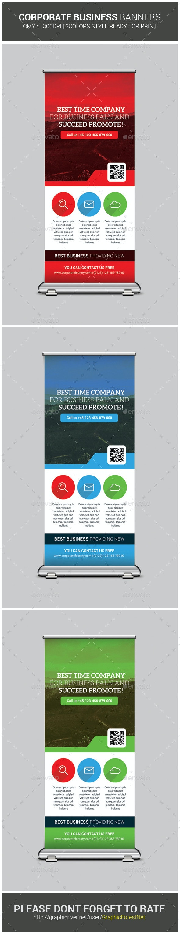 Corporate Business Roll-Up Template - Signage Print Templates