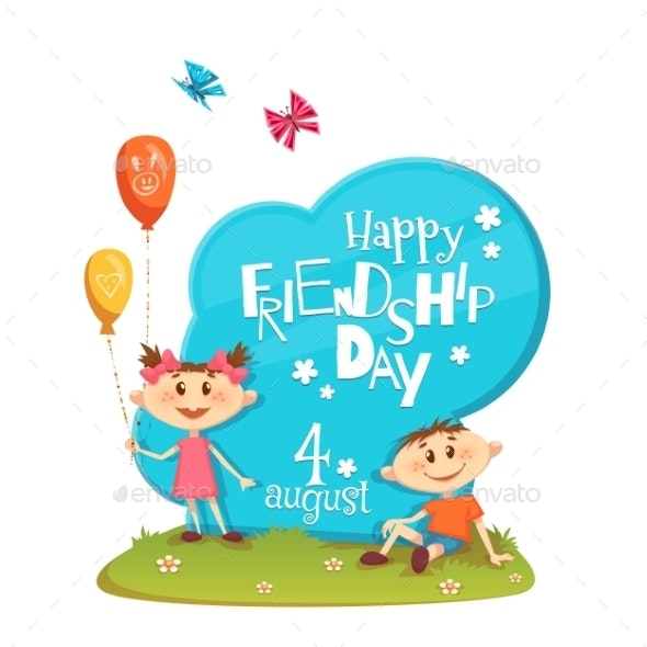 Stand With Friendship Day Title, Children - Miscellaneous Characters