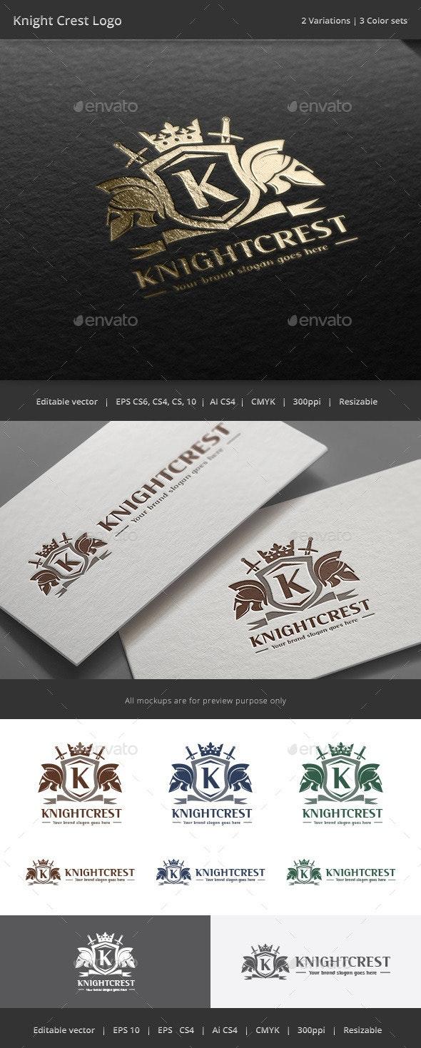 Knight  Crest Logo - Crests Logo Templates