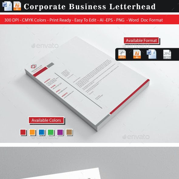 20 Advance Letterhead Design
