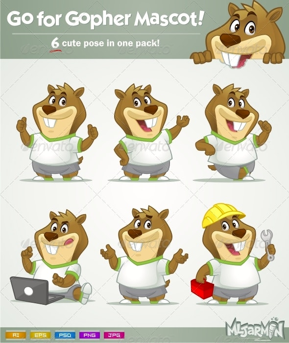 Go for Gopher Mascot! - Animals Characters