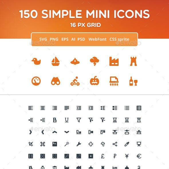 Simple Mini Icons vol. 2