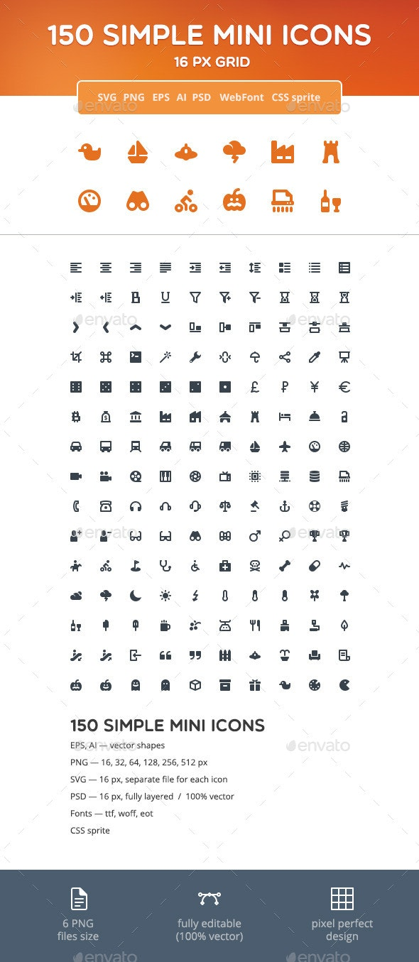 Simple Mini Icons vol. 2 - Web Icons