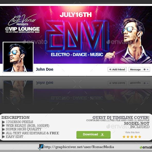 Guest DJ Facebook Timeline Cover