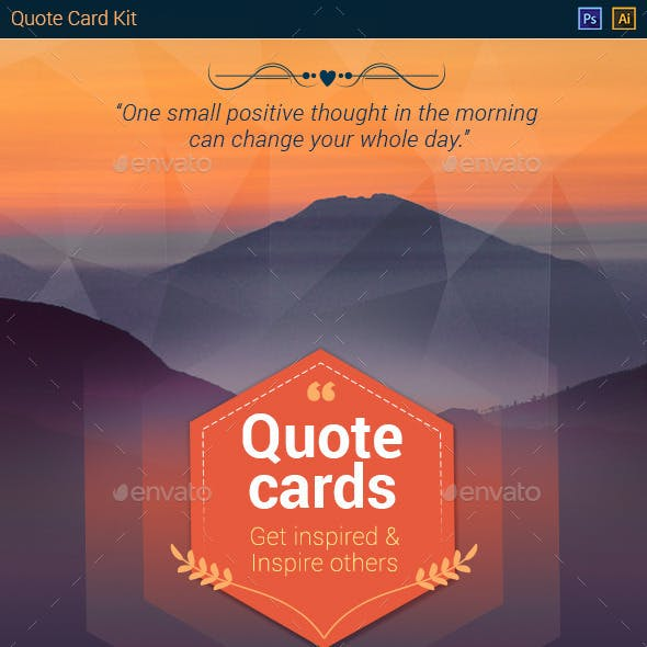 Quote Card Kit - Background & decorative elements