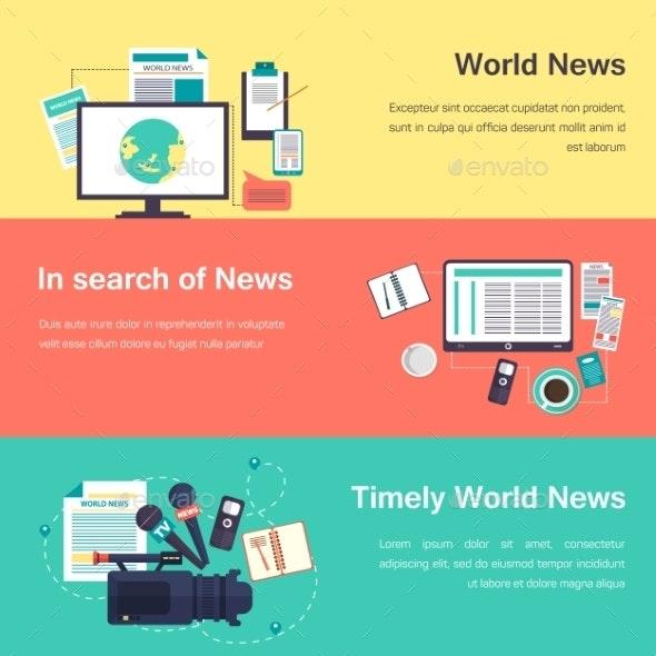 Vector Media Objects. World News - Web Technology
