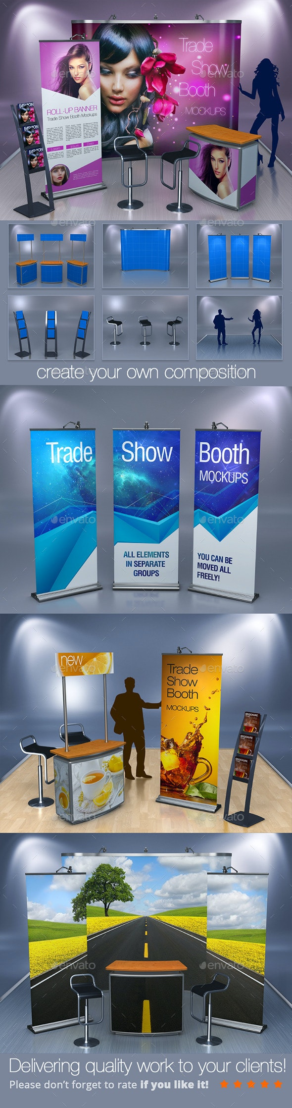Trade Show Booth Mockups - Miscellaneous Displays
