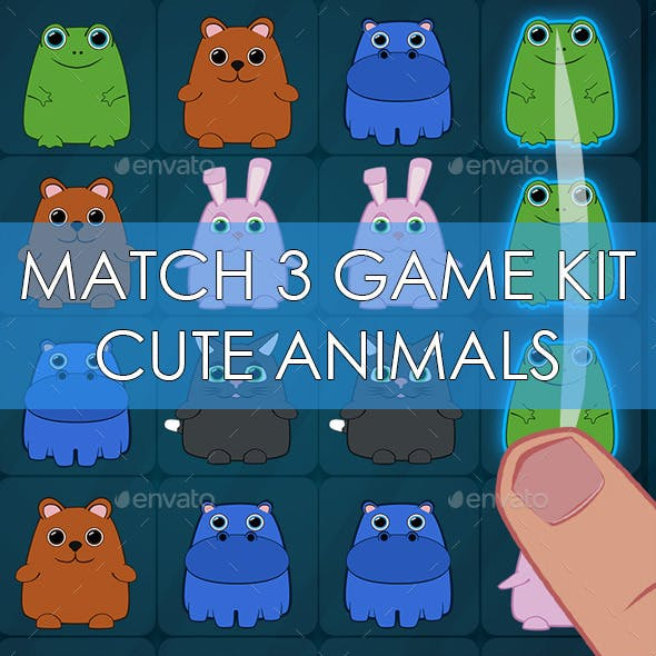 Match 3 Style Cute Game Kit