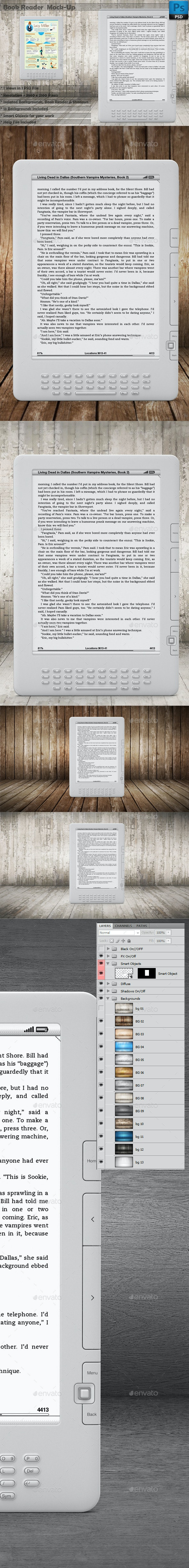 Book Reader Mockup Vol 1 - Mobile Displays