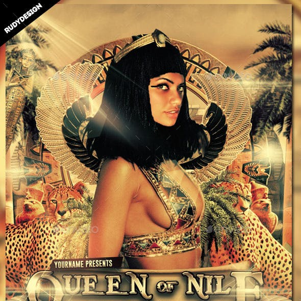 Queen of Nile Ancient Egypt Party Flyer