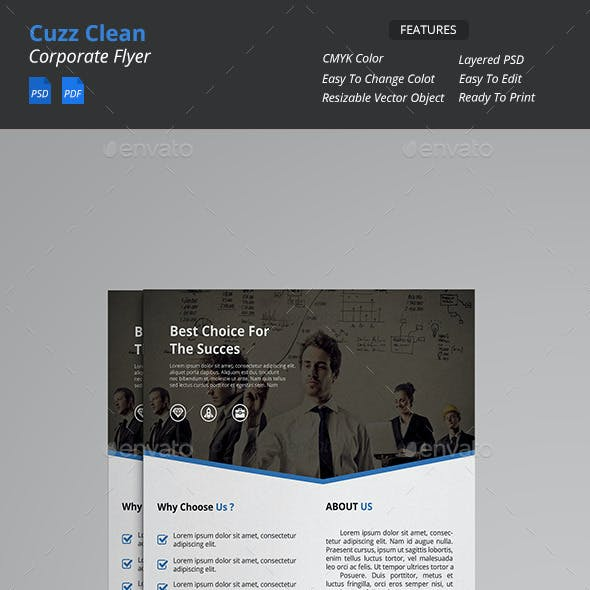 Cuzz - Clean Corporate Flyer