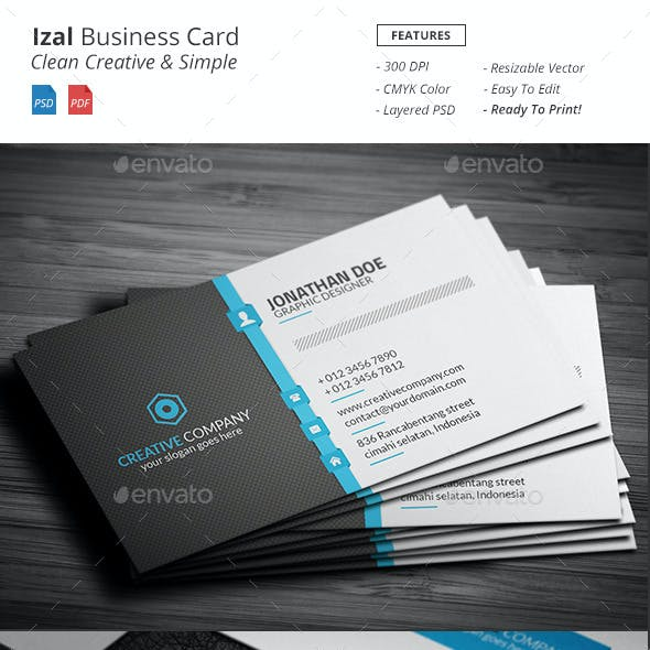 Izal - Clean Creative Business Card
