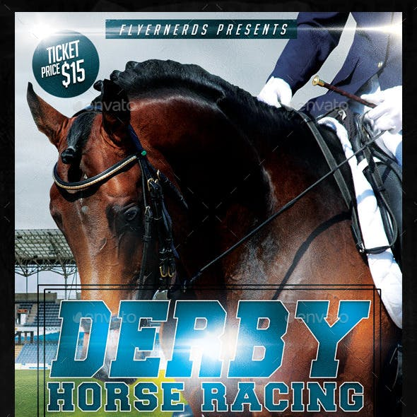 Derby Horse Racing Champioships Sports Flyer