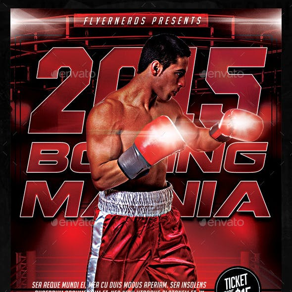 Boxing Mania 2015 Sports Flyer