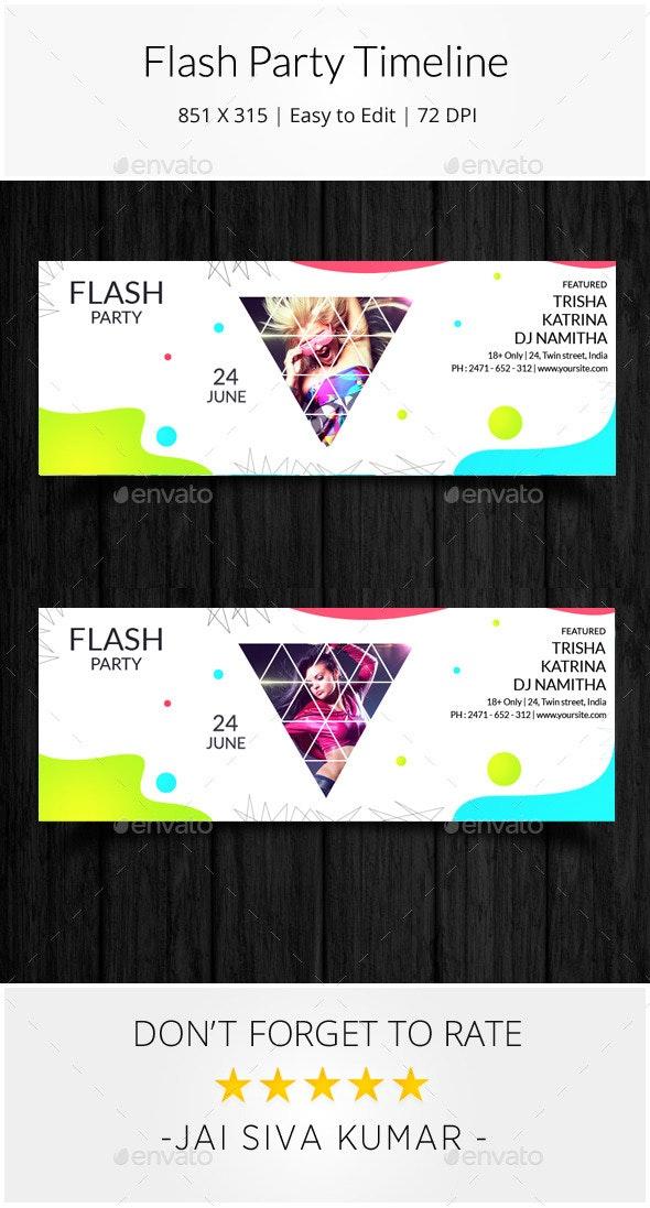 Flash Party Timeline - Facebook Timeline Covers Social Media