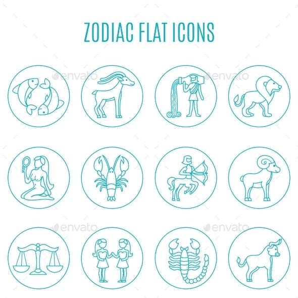 Zodiac Icon Line Set