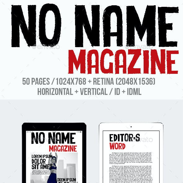 Tablet No Name Magazine
