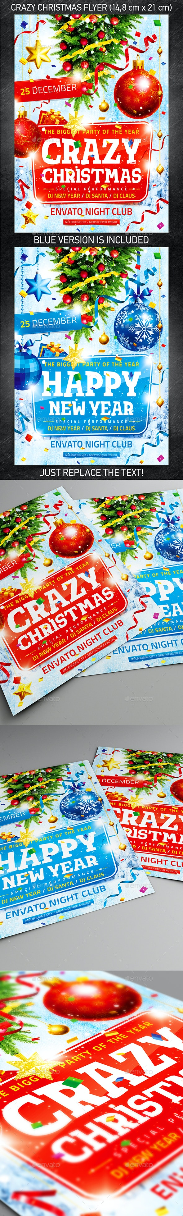 Crazy Christmas Flyer - Clubs & Parties Events