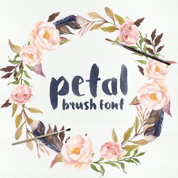 Petal - Brush Font
