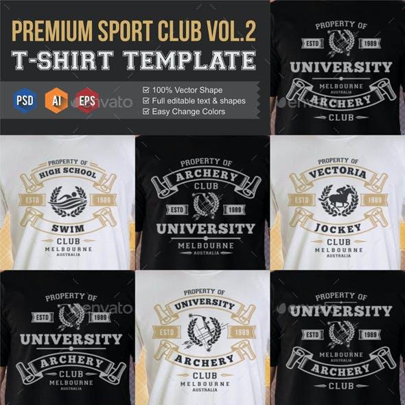 Premium Sports Club Teams T-Shirt Templates v2