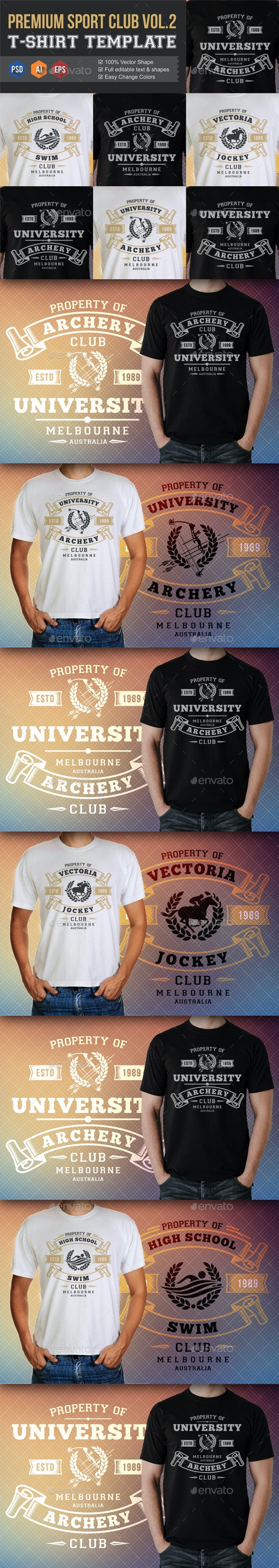 premium sports club teams t shirt templates v2 by ideaofart graphicriver graphicriver