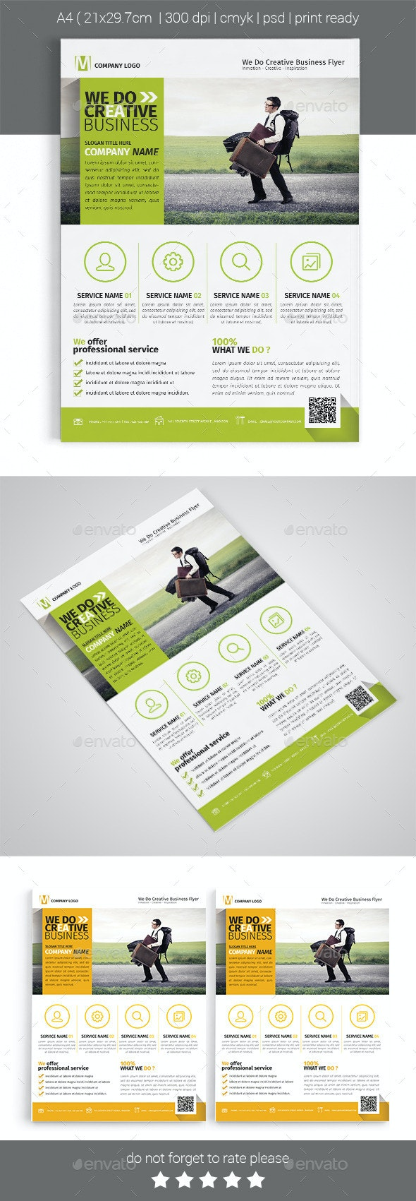 A4 Corporate Business Flyer Template Vol 02 - Corporate Flyers