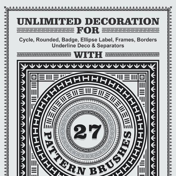 81 Pattern Brushes for Illustrator Bundle