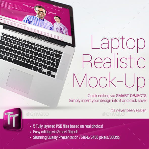 Laptop Realistic Mock-Up