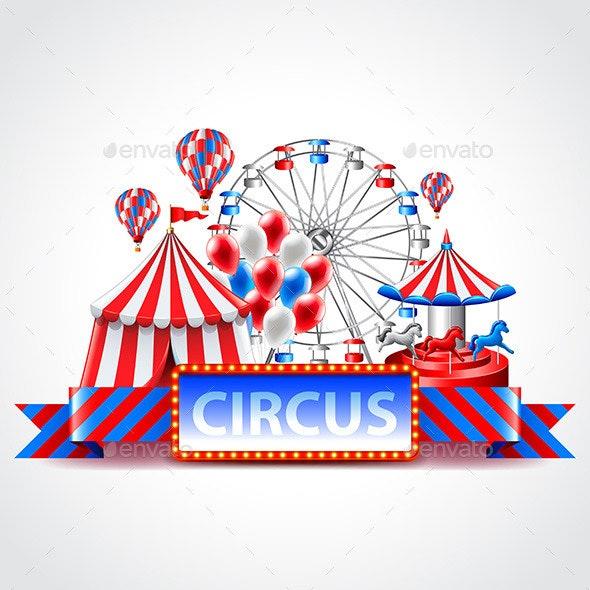 Circus Fun Fair Carnival Background - Miscellaneous Seasons/Holidays