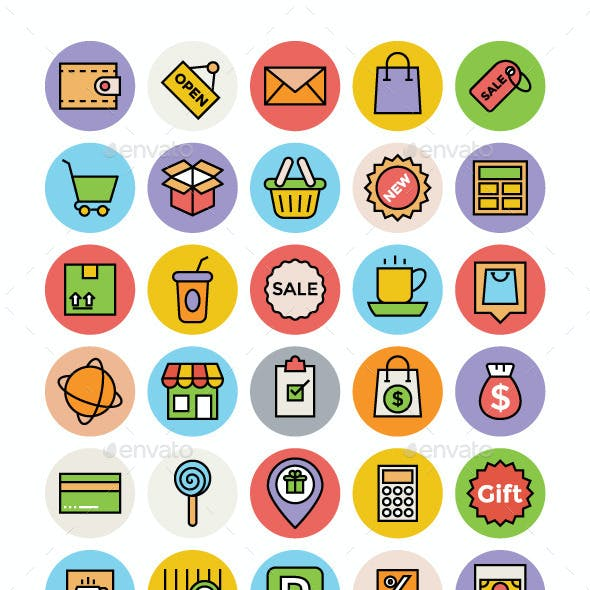 100+ Shopping and Commerce Vector Icons
