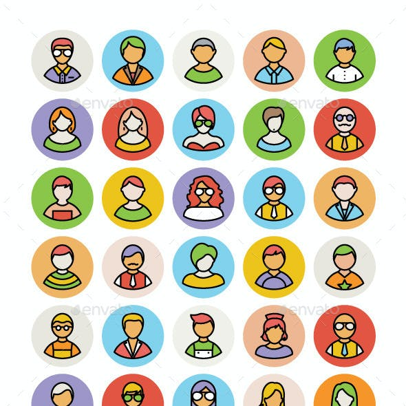 100+ People Avatar Vector Icons