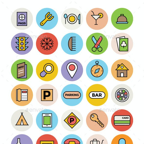 125+ Hotel and Restaurant Vector Icons