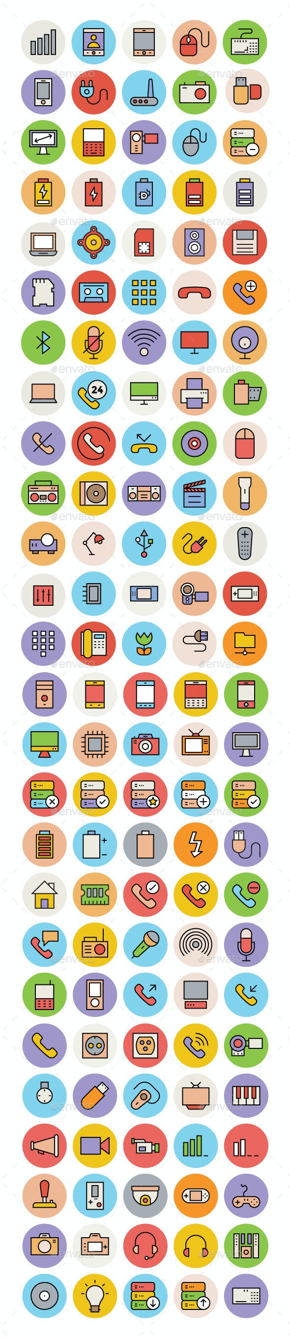 125+ Hardware and Devices Vector Icons - Objects Icons