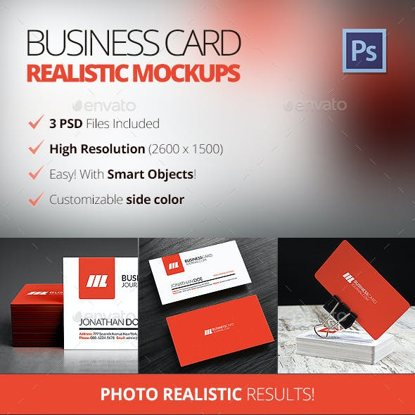 Photo Realistic Business Card Mockups