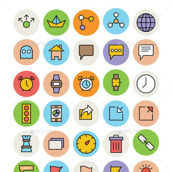Basic Icons and Basic Shapes Graphics, Designs & Template