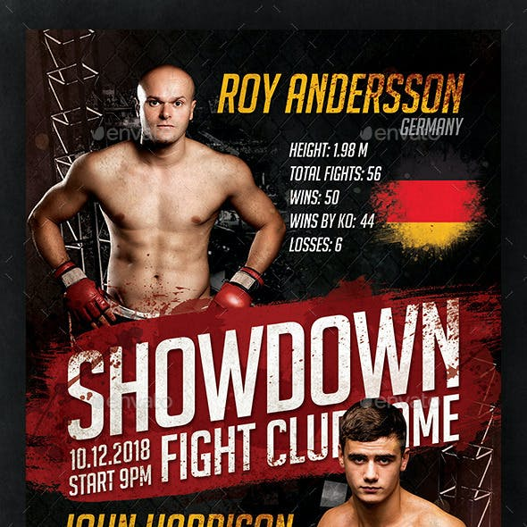 Fight Showdown Flyer Template