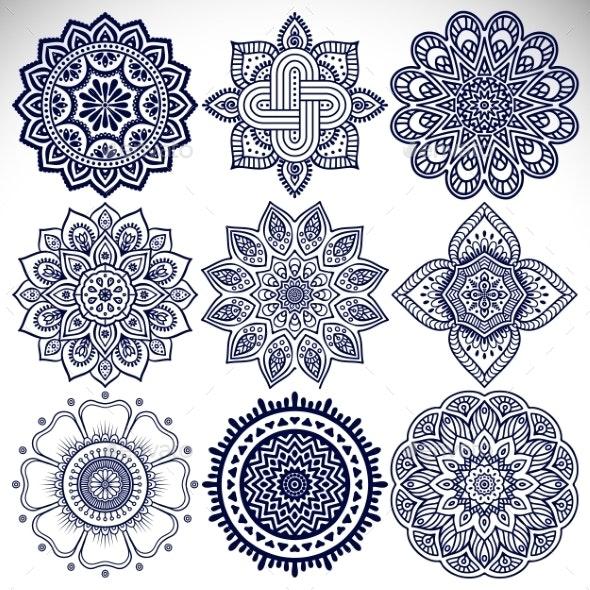 Mandala - Decorative Symbols Decorative