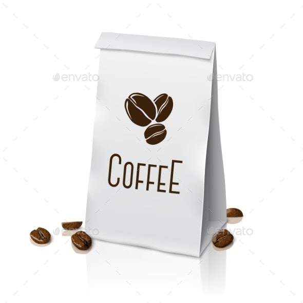 Blank Paper Packaging Coffee Bag - Man-made Objects Objects