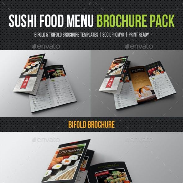 Sushi Restaurant Menu Brochure Pack
