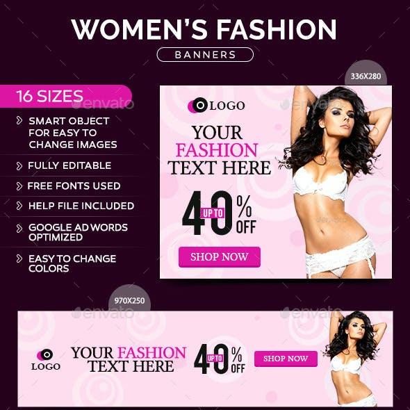 Women Fashion Banners