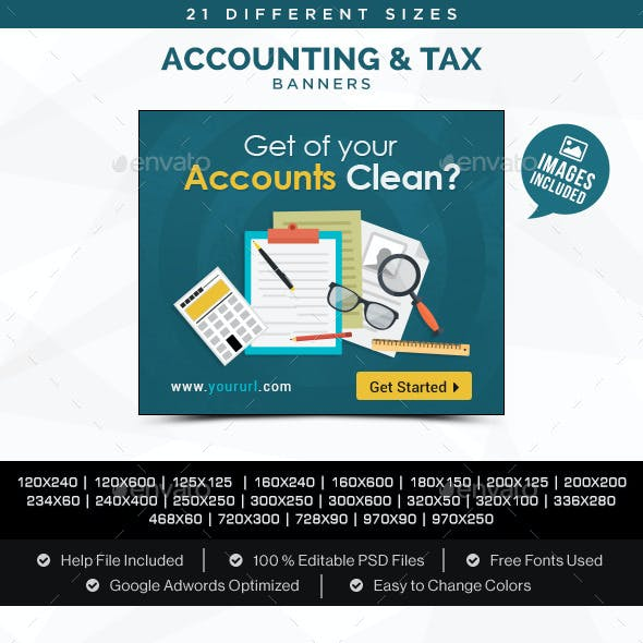 Accounting & Tax Banners