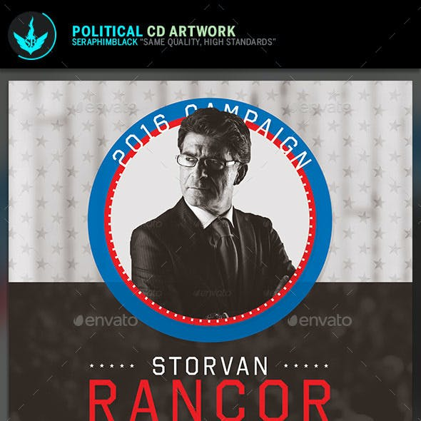 Political CD Artwork Template