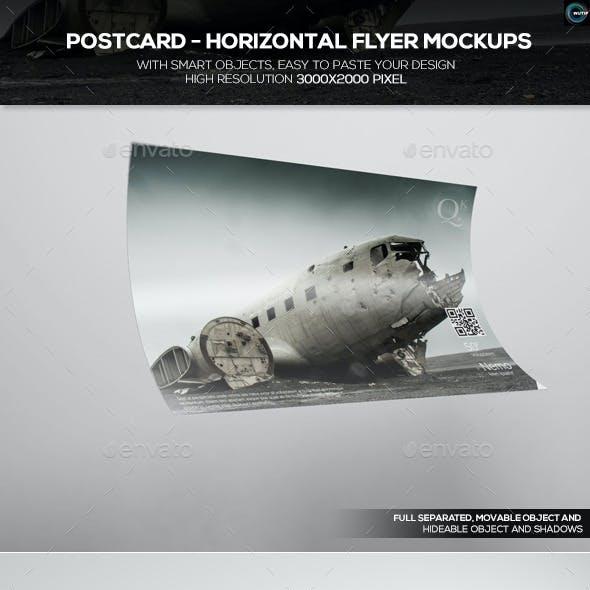 Postcard - Horizontal Flyer Mockups