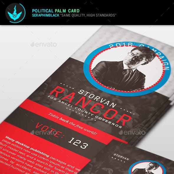 Political Palm Card Template