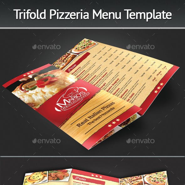 Trifold Pizzeria Menu Template