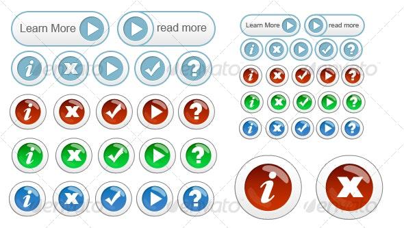 Button Set 1 - Buttons Web Elements
