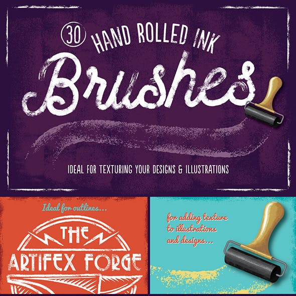 Hand Rolled Ink Brushes