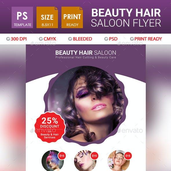 Beauty Hair Saloon Flyer